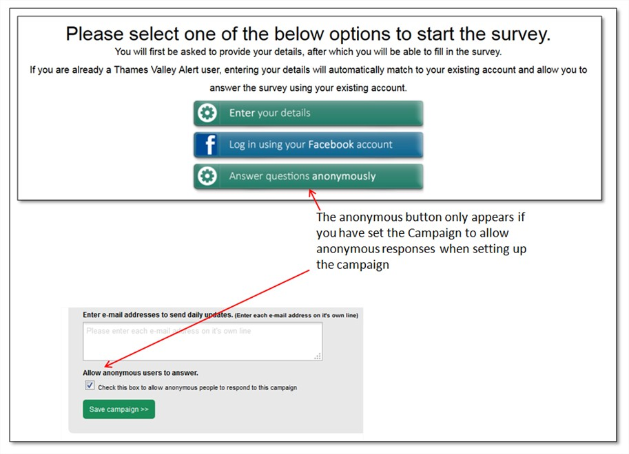 Can surveys be sent to anyone or just registered users? – VISAV Help